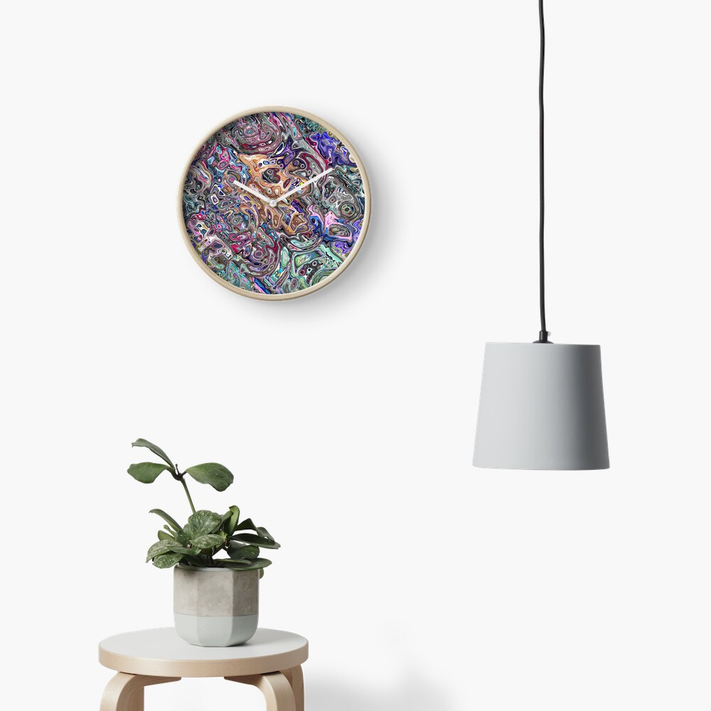 Abstract Melted Colors Clock