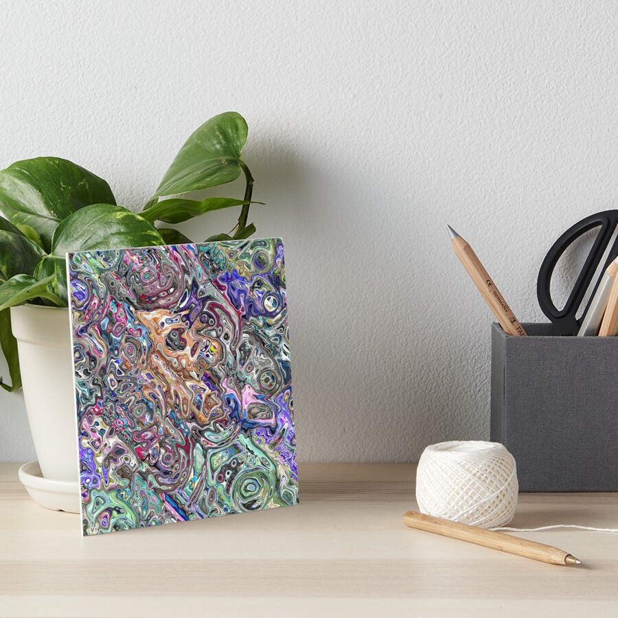 Abstract Melted Colors Art Board Print