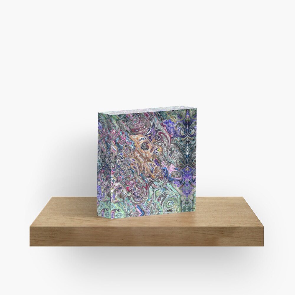 Abstract Melted Colors Acrylic Block