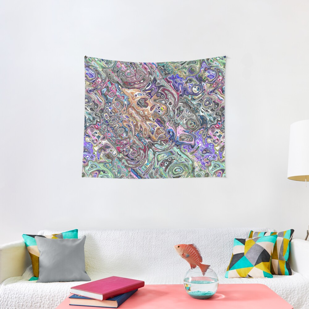 Abstract Melted Colors Tapestry