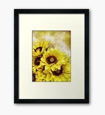 Serenity Sunflowers Framed Print