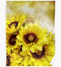 Serenity Sunflowers Poster
