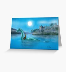 Sailing Nessie Greeting Card