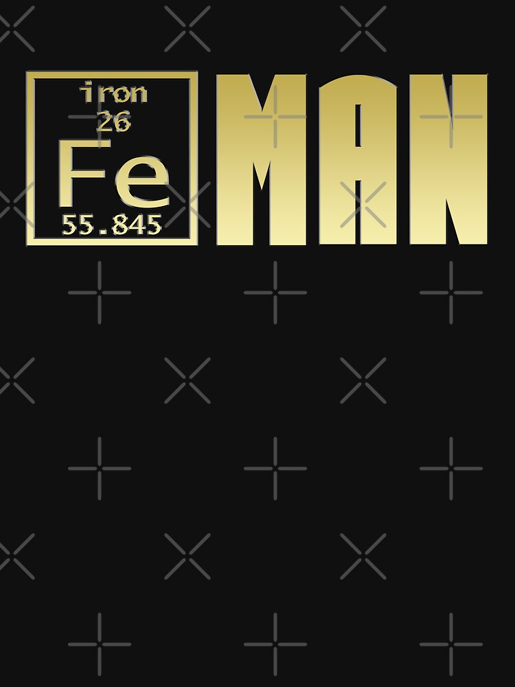 Fe Iron MAN Science Chemistry Superhero Mashup by Sparty1855