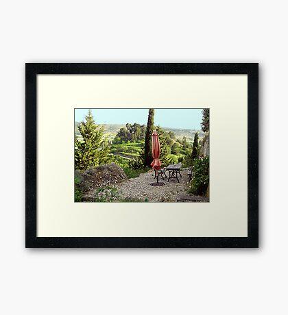 Languedoc Hillside patio Framed Print