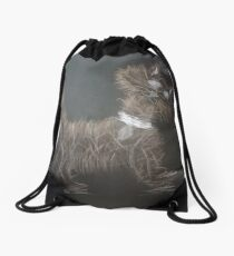 What just made my hair stand on end Drawstring Bag