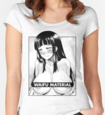 Naruto - Hinata Waifu Material Women's Fitted Scoop T-Shirt