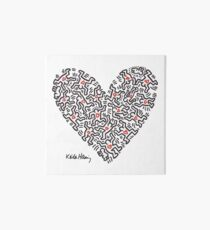 Keith Haring, Heart, People, Love Art Board