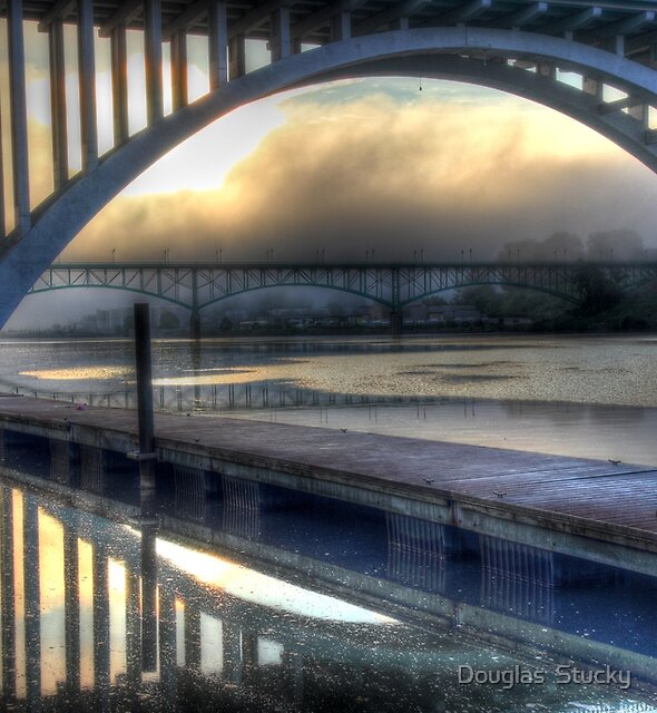 Sunrise on The Tennessee River by Douglas  Stucky