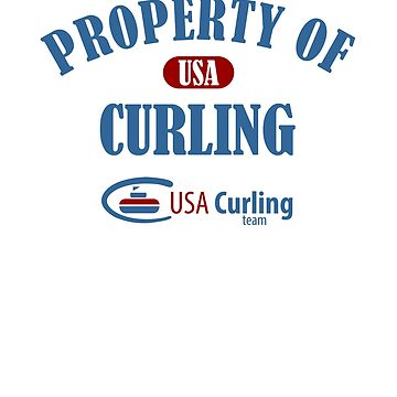 Curling Design USA Property Of Curling Winter Sports Games by kirillpanteleev