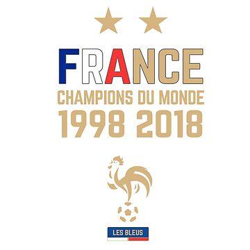 France Champion Du Monde 2018 • Les Bleus • Football World Cup Champion 2018 ID 4-3 by UNIQ-Apparel