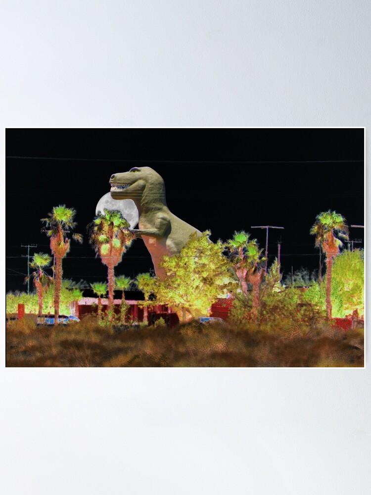 Alternate view of T-Rex In The Desert Night Poster