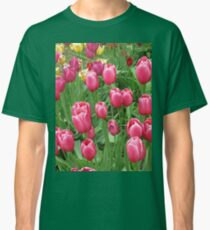 Early Spring Colorful Tulips photograph  Classic T-Shirt