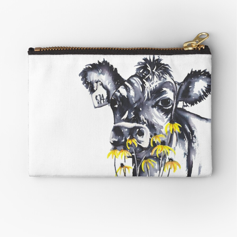No worries - cow painting Zipper Pouch