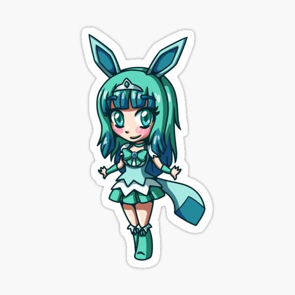Glaceon Magisches Mädchen Chibi Sticker