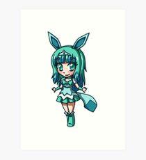 Glaceon Magical Girl Chibi Art Print