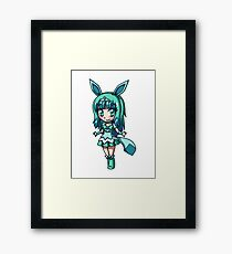 Glaceon Magical Girl Chibi Framed Print