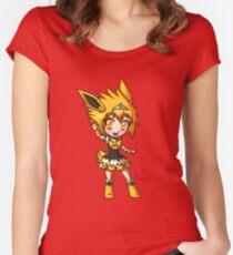 Jolteon Magical Girl Chibi Women's Fitted Scoop T-Shirt