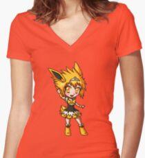 Jolteon Magical Girl Chibi Women's Fitted V-Neck T-Shirt