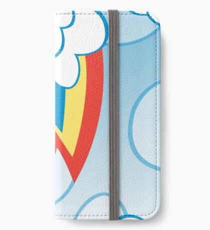 Rainbow Dash among the clouds iPhone Wallet