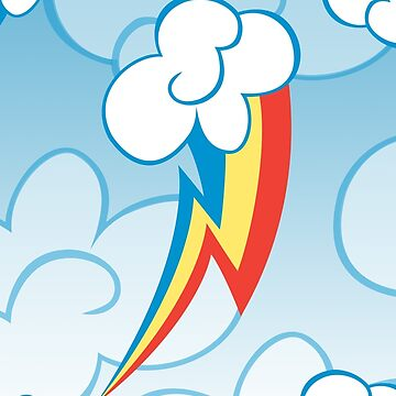 Rainbow Dash among the clouds by Eniac