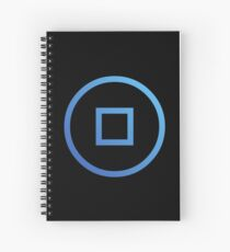 RYO Currency $RYO Crypto Currency Icon - Black Spiral Notebook