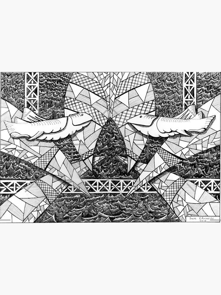 273 - SHARK DESIGN - DAVE EDWARDS - INK - 2018 by BLYTHART