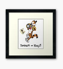 Dovahkiin and Khajiit We Know Framed Print