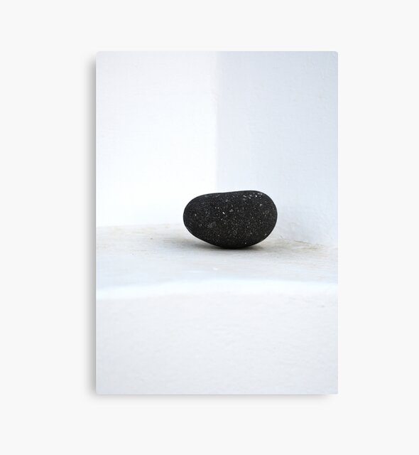 The Minimalist Black Stone by PrintsProject