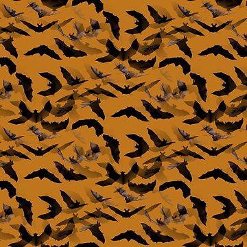 Halloween Bats 1 by CarolineArts