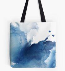 Indigo Blue Sea, abstrakte Tintenmalerei Tote Bag