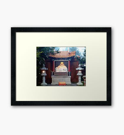 Buddha At The Gate Framed Print