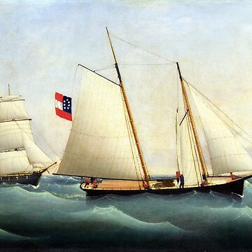 Fritz Müller Capture of the Savannah by the USS Perry by pdgraphics