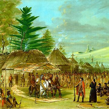 George Catlin Chief of the Taensa Indians Receiving La Salle by pdgraphics