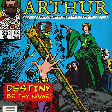 King Arthur - Vintage Comic Book by moviemaniacs
