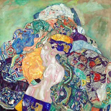 Gustav Klimt Baby (Cradle) by pdgraphics