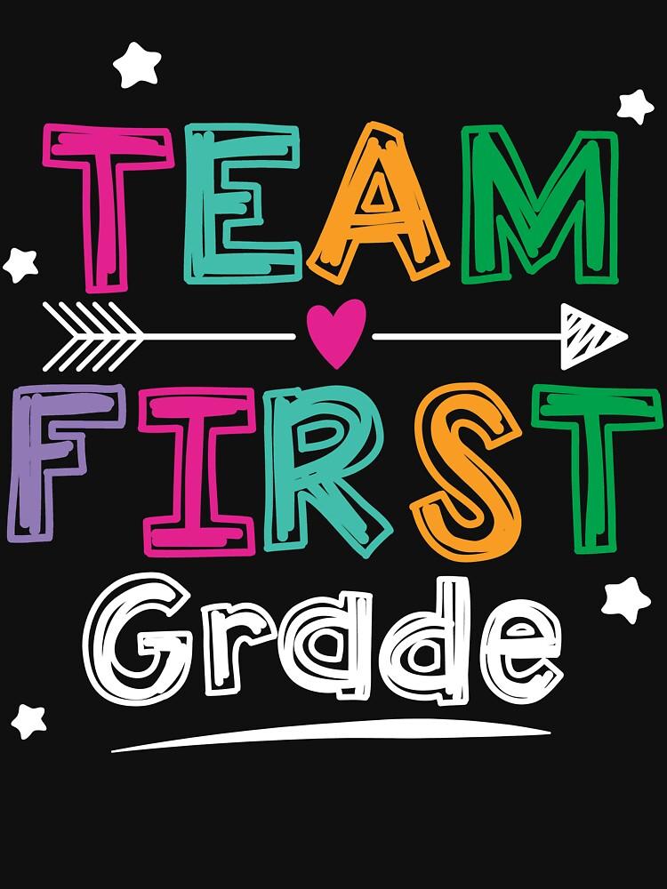 Team First Grade Teacher and Students 1st Grade Crew T-Shirt by WG-Factory