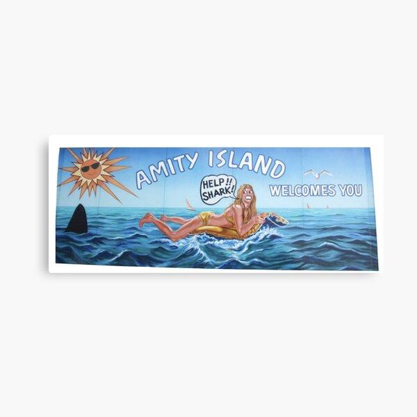 Welcome to Amity Island Metal Print