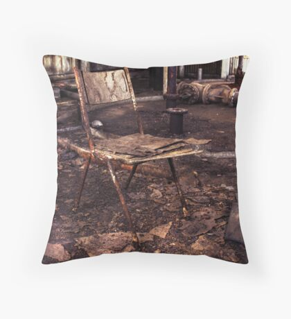 Take a seat. Throw Pillow