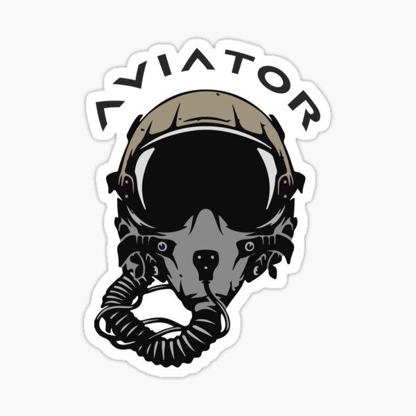 Fighter Pilot Helmet and Mask Sticker