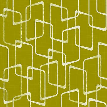 Acid Green Retro Geometric Shapes Pattern by itsjensworld