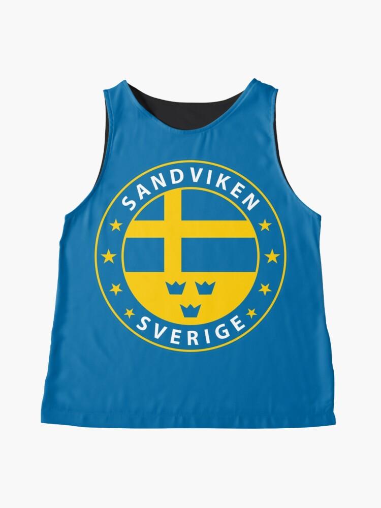 Alternative Ansicht von Sandviken, Sandviken Schweden, Sandviken Sverige, Sandviken Aufkleber, Stadt von Schweden Ärmelloses Top