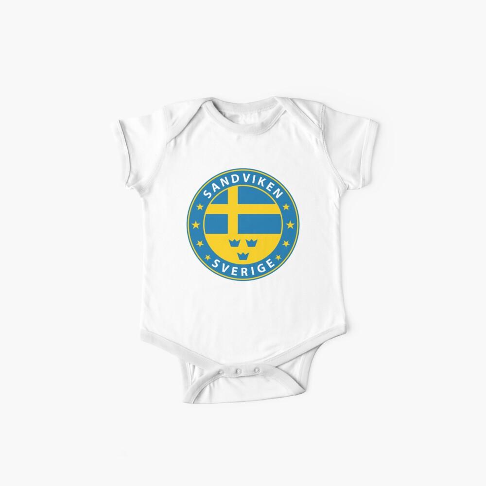Sandviken, Sandviken Schweden, Sandviken Sverige, Sandviken Aufkleber, Stadt von Schweden Baby Body