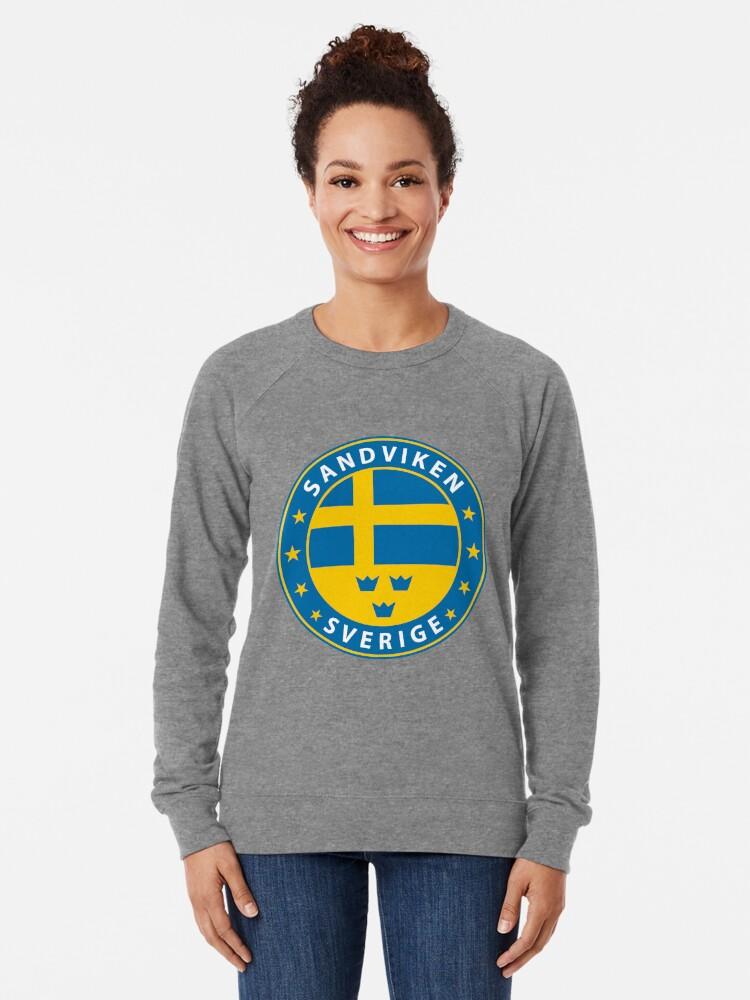 Alternative Ansicht von Sandviken, Sandviken Schweden, Sandviken Sverige, Sandviken Aufkleber, Stadt von Schweden Leichter Pullover