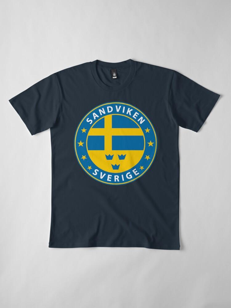 Alternative Ansicht von Sandviken, Sandviken Schweden, Sandviken Sverige, Sandviken Aufkleber, Stadt von Schweden Premium T-Shirt