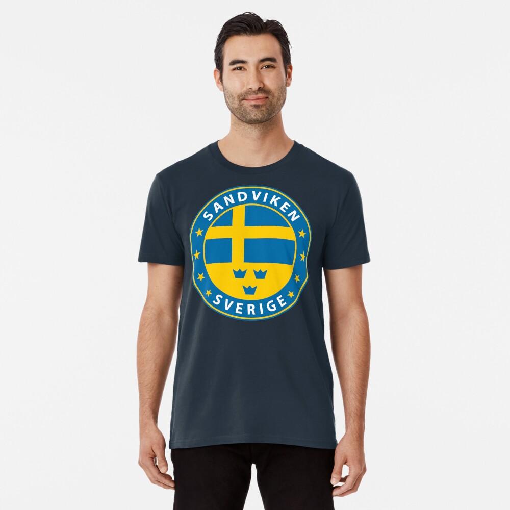 Sandviken, Sandviken Schweden, Sandviken Sverige, Sandviken Aufkleber, Stadt von Schweden Premium T-Shirt