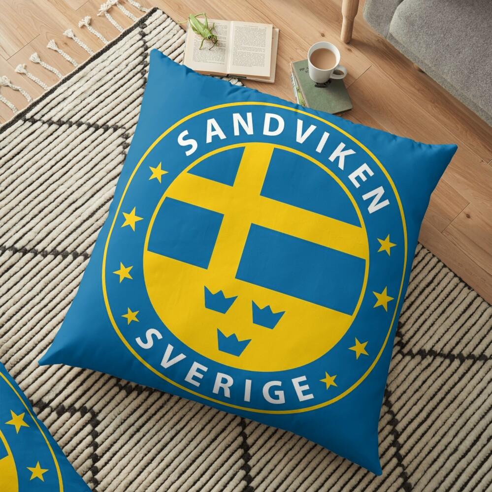 Sandviken, Sandviken Schweden, Sandviken Sverige, Sandviken Aufkleber, Stadt von Schweden Bodenkissen