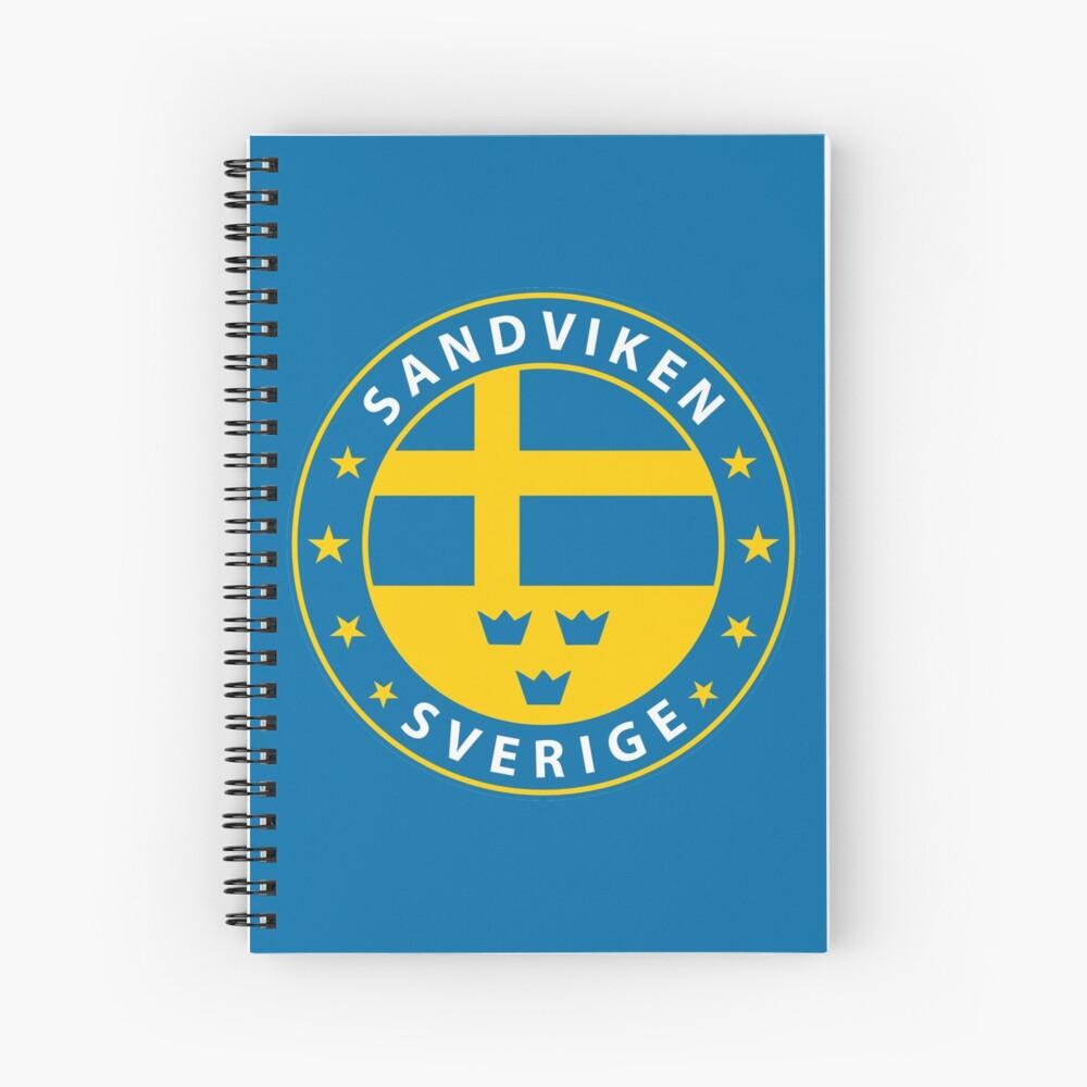Sandviken, Sandviken Schweden, Sandviken Sverige, Sandviken Aufkleber, Stadt von Schweden Spiralblock