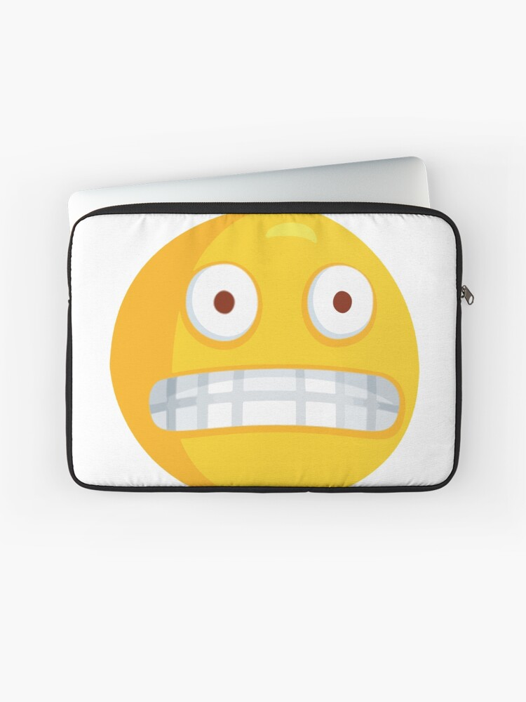 Grimacing Nervous Emoji | Laptop Sleeve