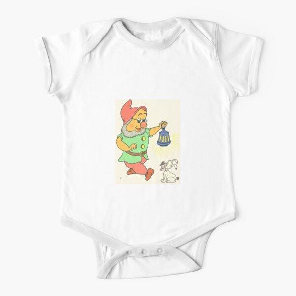 kleiner Wichtel mit Laterne Baby Body Kurzarm